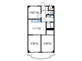 スカイマンション2階Fの間取り画像