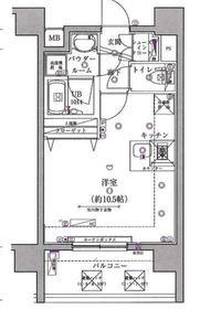 スパシエベルタ横浜6階Fの間取り画像