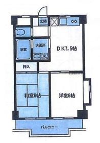 グランベールヨシミ2階Fの間取り画像