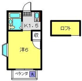 グレース日吉2階Fの間取り画像