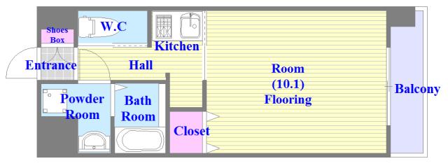 Forest Grace 深江橋Ⅱ バストイレがセパレート、独立洗面所のある使い易い間取りです。