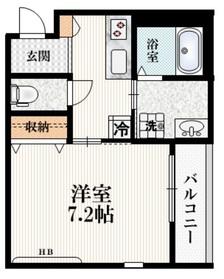 (仮称)高松町2丁目マンション2階Fの間取り画像