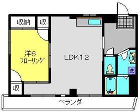 フレメゾン5階Fの間取り画像