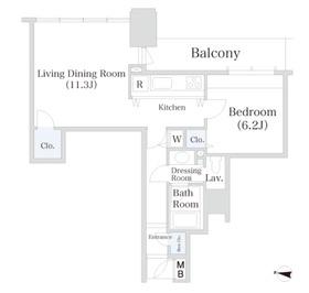 小石川シティハイツ4階Fの間取り画像