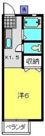サニーハイツ1階Fの間取り画像