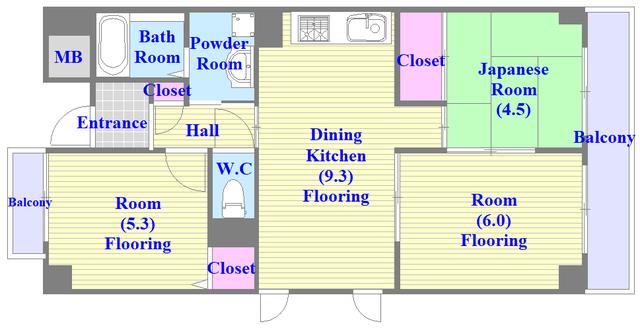 サンオーク タツミ 和室のあるゆったりした間取です。一度ご覧ください。