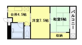 広々収納が魅力的な2DKのお部屋です。