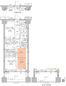 北千束駅 徒歩4分5階Fの間取り画像
