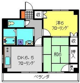 B・Fハイツ4階Fの間取り画像
