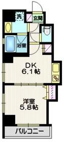 ラ・メール ドゥ シエル6階Fの間取り画像