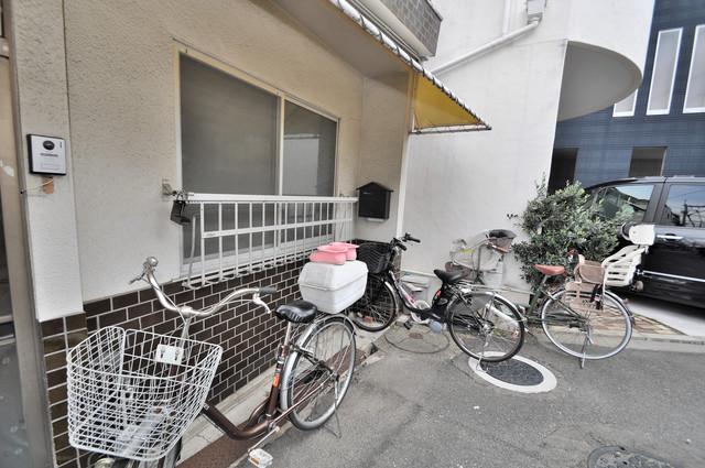 大蓮東5-5-12 貸家 こちらに自転車を置いてください。