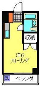 日吉ドエリング2階Fの間取り画像