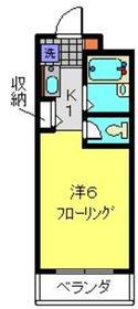 ハイツジュネス1階Fの間取り画像