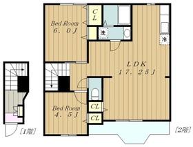 町田駅 バス9分「ひなた村」徒歩5分2階Fの間取り画像