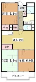 エーデルハイム1号棟3階Fの間取り画像