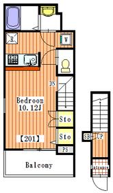 シフォン2階Fの間取り画像