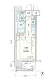リヴシティ横濱弘明寺10階Fの間取り画像