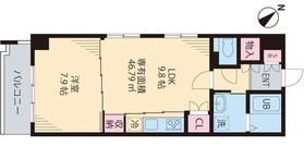 インカウンターマンション6階Fの間取り画像