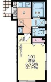 サンシエスタ西谷Ⅱ1階Fの間取り画像