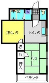 ハイムツクバ2階Fの間取り画像
