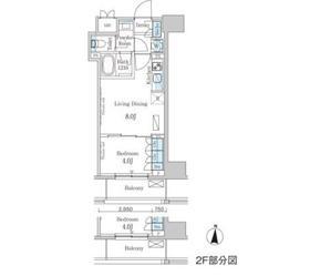 パークアクシス錦糸町ヴェール2階Fの間取り画像