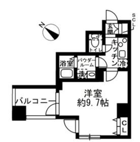 ラクラス日本橋浜町3階Fの間取り画像