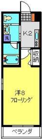 武蔵新城駅 徒歩8分3階Fの間取り画像