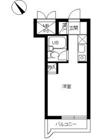 スカイコート戸塚3階Fの間取り画像