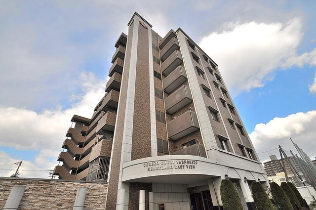 セレッソコート八戸ノ里ハートランドイーストビュー 角地に建っているので、どのお部屋も明るいですよ。