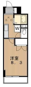 TERRACE NO SIDE3階Fの間取り画像