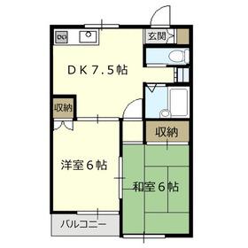 リエス鶴瀬3階Fの間取り画像