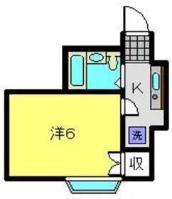 パールハイムE1階Fの間取り画像