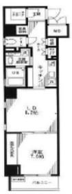 レスプリヴァルール6階Fの間取り画像