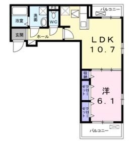 コンジュ・コトネ1階Fの間取り画像