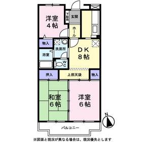 ドエル・フローラⅠ4階Fの間取り画像