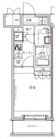 セジョリ横浜鶴見II5階Fの間取り画像