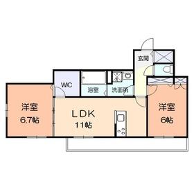 (仮称)アメニティー金沢区釜利谷南2丁目マンション1階Fの間取り画像