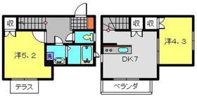 白楽パークコート1階Fの間取り画像