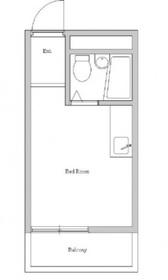 サンハイツ3階Fの間取り画像