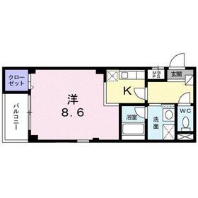 ハウスアヴェニュ-3階Fの間取り画像