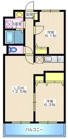 メゾンボナール1階Fの間取り画像