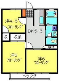 サカキハイムNo32階Fの間取り画像