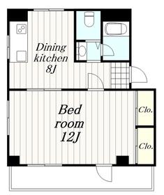 ベルローズ三番館2階Fの間取り画像