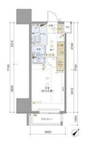 リヴシティ横浜東ベイサイド8階Fの間取り画像