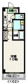 (仮称)川崎プロジェクト[三田]2階Fの間取り画像
