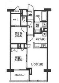 カーザビアンカ2階Fの間取り画像