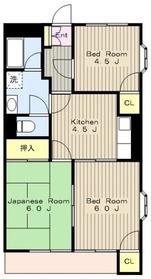 京王多摩川駅 車10分3.1キロ2階Fの間取り画像