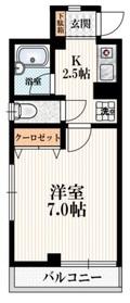 ソネットヨシナガ3階Fの間取り画像