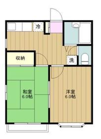 サンハイムII2階Fの間取り画像