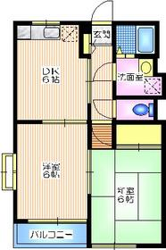 シェルム戸塚B2階Fの間取り画像